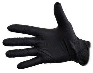 Rękawiczki Jednorazowe NITRYLOWE 100szt L czarne
