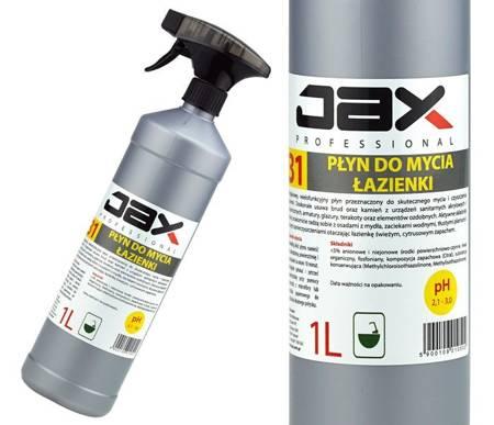 JAX31 płyn do mycia łazienki usuwa brud kamień 1l cytrusowy zapach