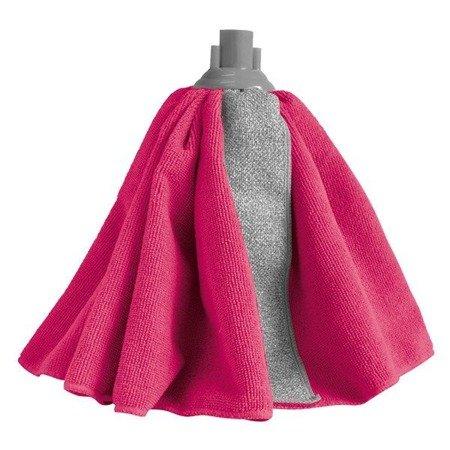 Końcówka MOP mikrofibry RUBI gumowy klips mikrofib Mop Sukienkowy z paskiem szorującym