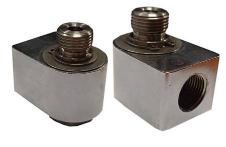Złącze obrotowe 90  Ż1/4 3/8M mocowanie